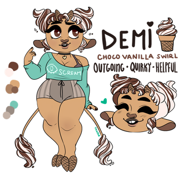 Ice Cream Cow Reference: Demi (Mascot) by oreorc