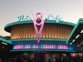Flo's beautiful cafe in Cars Land by Cartuneslover16