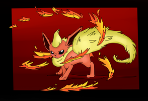 ( Pokemon ) Flareon's Fire Dance Collab by KrazyKari