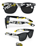 Batman hand painted sunglasses by Ketchupize