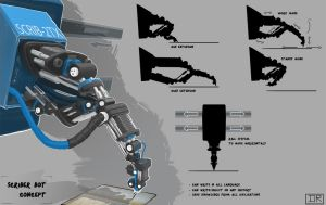 Scriber Bot Concept by Remidubois