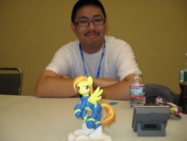 BronyCon 2013 - dustysculptures and Spitfire by AleximusPrime