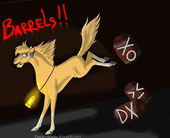 BARRELS!!!!! by Invader-Michaela