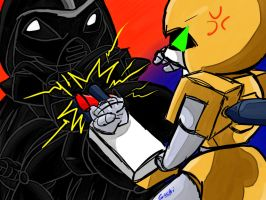 vader vs metabee by guchi-22