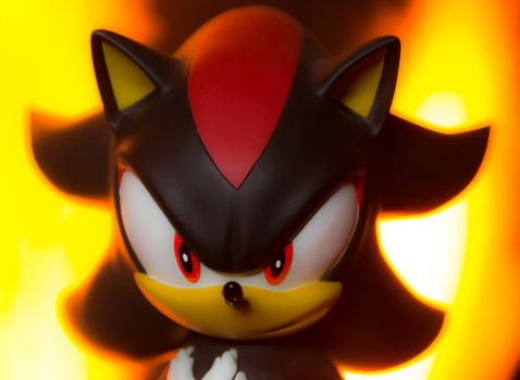 Shadow the hedgehog statue by EGGMAN-X
