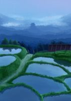 Tanada -Terraced rice fields- by Nonohara-Susu