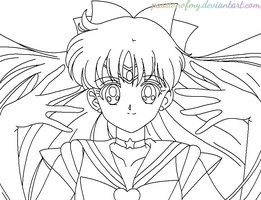 LineArt Sailor Venus *PassionOfMy* by PassionOfMy
