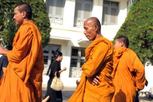 Buddhist Monks by drewhoshkiw