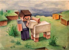 Minecraft Art by upacers