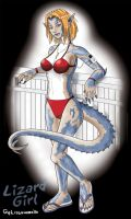 Lizard Girl Pinup by laughingvulcan