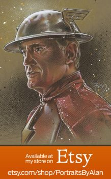 Jay Garrick - The Flash of Earth 3 by PortraitsByAlan