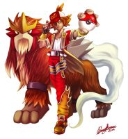 Flame and Old ENTEI by Sommum