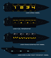 Union Civilian non combat ships WIP by EmperorMyric