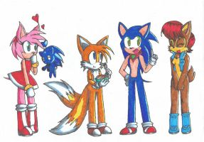 Sonic and Friends by GabbyZVolt25