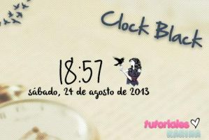CLOCK BLACK by karinapaez