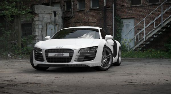 Audi R8 render by Neskafee