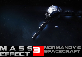 Mass Effect 3 Normandy's spacecraft by samcollends