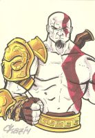 Kratos God of War by cmkasmar