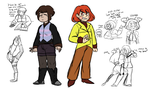 Frisk Brown and Chara Red Brown refs (see desc.) by DeterminedToDrawUT