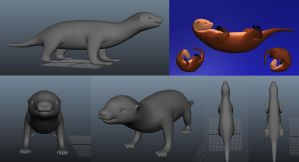 3D Otter Model by hollywood714