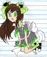 .:Nashi's Maid Outfit Colored:. by ThatOneMuffin