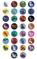 MLP - Dissidia Buttons by LynxGriffin