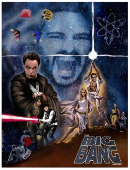 Big Bang Theory Star Wars Poster by Rabittooth