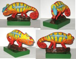 Panther Chameleon Commission by GabriellesBabrielles