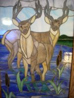 Deer-Stained Glass by manuforti74