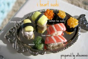 Sushi in Miniature by AlliesMinis