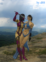 Mileena and Kitana by dim1988