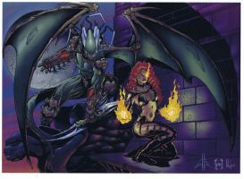 cynder and the stormdragon by lovalleart