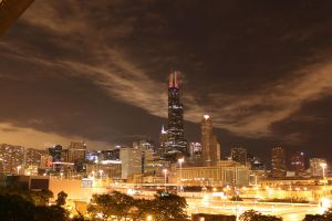 Chicago at Night by TimothyHarris