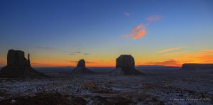 Sunrise in Monument Valley 1 by Mac-Wiz