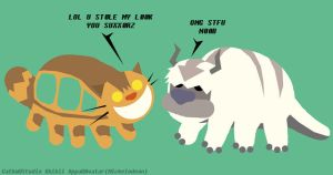 Catbus VS Appa by raygirl
