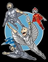 Silverhawks color by AlanSchell