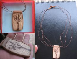 Tree necklace by sneakyfetusprod