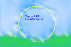 Happy 23 birthday Sonic by PrettyShadowj28