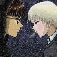 Rain, Harry-Draco by Catiadoodle