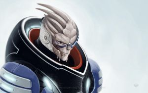 Garrus Wallpaper by Dolmheon
