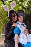 Sebastian and Ciel Wonderland by Mariealiceblack