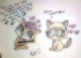 Sugar Sprinkles and Grumpy Cat by XxMisery-SeverityxX