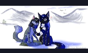 Snow is falling... and I love you by Foxinaya