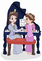 Piano Lesson by CyanDots