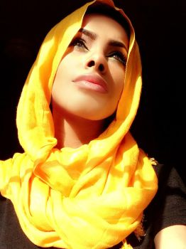 looking up hijab stock by Desert-Winds