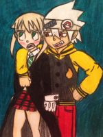 Soul and Maka by angry-toon-link