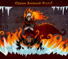 Melkor and Sauron - Angband Style by FlyingCarpets