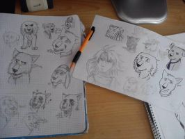 Supercaninatural sketches. by XSoul-ArtistX