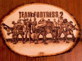Team Fortress 2 - Wood burning (pyrography art) by brandojones