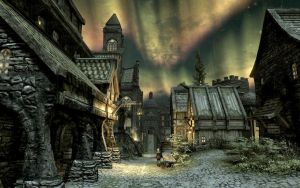 Skyrim Screenshots- Solitude at Night by vincent-is-mine